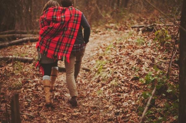 фото осень и люди